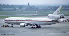 9QCLT DC10 Air Zaire (Anhedral) Tags: 9qclt douglas dc10 dc1030 airzaire gniuk bcal trijet airliner jet gatwickairport