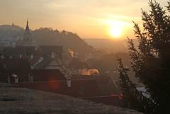 Rise and shine (crowfoto) Tags: sun sunrise sonnenaufgang tübingen tuebingen castle schloss kirche neckar gold beautiful altstadt awesome