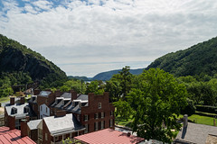 Town from Harpers' Front porch (vynsane) Tags: wv westvirginia potomac harpersferry shenandoah harpersferrynationalhistoricpark findyourpark