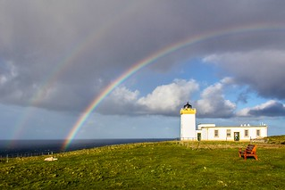 Double Rainbow, Duncansby Head Lighthouse, Scotland [Explore n°50 du 20/08/2015]