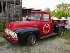 2015.08.08-18.40.56 (Pak T) Tags: red ford truck pickup f100 pickuptruck ipswich fseries fordf100 russellorchards panasonic1235mmf28