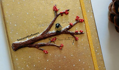winter branch tree notebook cover (Seasonoftheflowers) Tags: winter snow tree bird notebook arbol branch handmade clay cover invierno rama handcraft redberries polymer copac iarna zapada pasare seasonoftheflowrs