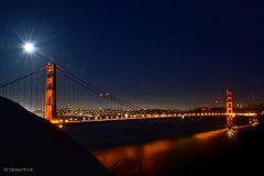 Golden Gate (Sean Peck) Tags: sanfrancisco moon fullmoon goldengatebridge goldengate marinheadlands kirbycove supermoon