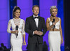 "Hosts Brooke Burke-Chavert and Chris Harrison with Kira Kanzantsev • <a style=""font-size:0.8em;"" href=""http://www.flickr.com/photos/47141623@N05/21403585855/"" target=""_blank"">View on Flickr</a>"