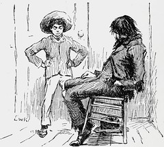"""""""Huck and his father"""" by E. W. Kemble from """"The Adventures of Huckleberry Finn"""" by Mark Twain. London (1884). 1st ed. (lhboudreau) Tags: illustration book etching drawing father illustrations drawings piccadilly books huck marktwain bookart 1884 hardcover etchings samuelclemens huckfinn kemble firstedition vintagebook huckleberryfinn hardcovers classicfiction hardcoverbooks theadventuresofhuckleberryfinn hardcoverbook adventuresofhuckleberryfinn classicstory chattoandwindus classictale tomsawyerscomrade ewkemble chattowindus firstbritishedition firstukedition hucksfather huckandhisfather"""