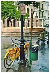 Plaza De Armas (SamyColor) Tags: color kodak oldsanjuan puertorico colores bicycles sanjuan bancos gt benches colori yashica bicicletas viejosanjuan plazadearmas lightroom colorido yashicaelectro35gt ultramax400 kodakultramax400 lightroom3 yashinoncolordx45mmf17