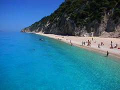 Egremi Beach (ForceMajeureMontenegro) Tags: sea beach nature playa greece spiaggia det yunanistan egremni  lefkada     papldimys