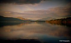 Loch Lomond and Ben Lomond (Rollingstone1) Tags: lochlomond mountains autumn balloch scotland nightfall nature scenic loch outdoor sky cloud water serene dusk lightscape landscape benlomond munro sunset poeexcellence