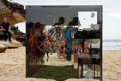 20151031-104-Sculpture by the Sea Bondi 2016 - Crate poems by Alessandra Rossi (Roger T Wong) Tags: people art bondi outdoors mirror sydney australia installation nsw newsouthwales sculpturebythesea crowds scultpure tamarama 2015 sony2470 rogertwong sel2470z sonyfe2470mmf4zaosscarlzeissvariotessart sonya7ii sonyilce7m2 sonyalpha7ii