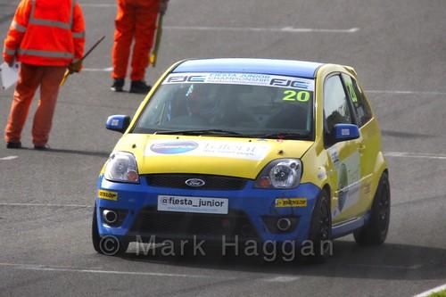 Ronan Quinn in the Fiesta Junior Championship, Brands Hatch, 2015