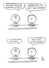 "Il peggiore sindaco di Roma ""ab Urbe condita"" (Peanuts Reloaded) Tags: charliebrown linusvanpelt ignaziomarino anagrammi roma sindaco dimissioni 2015 peanuts peanutsreloaded comics drawing snoopyfriends snoopyandfriends outdoor linus"