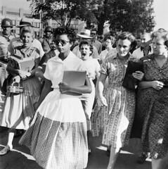 Elizabeth Eckford verbally harassed by segregationists