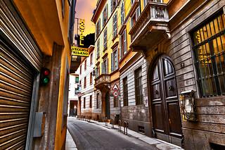 Street of old Milan