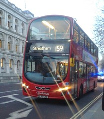 Transfer: Arriva London South DW298 LJ10CVE on route 159 to Streatham Station (Unorm001) Tags: 2 horse bus london buses westminster station square euro 5 south parliament route routes wright guards gemini whitehall pulsar horseguards cve arriva 159 vdl euro5 104m lj10 db300 091215 lj10cve dw298 09122015