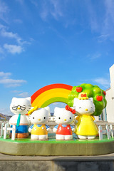 JEJU, SOUTH KOREA - NOV 28, 2015 : Hello Kitty Family Fiberglass Outdoor Photo Booth (scale in human size) located in 3F HELLO KITTY ISLAND MUSEUM & CAFE IN JEJU, Seogwipo-si, Jeju-do. NOT TOY (enchanted.fairy) Tags: