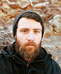Alex 1/3 (Rhombie Sandoval) Tags: beard sonder kodakportra400 mamiyarz67