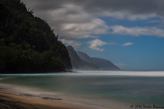Time in paradise!! (Doreen Bequary) Tags: keebeach hawaii kauai napalicoast longexposure d500 leefilters bigstopper ocean water landscape mountain beach blue clouds