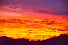 Molten Sky Sunset (esywlkr) Tags: sky clouds intense sunset nc wnc northcarolina