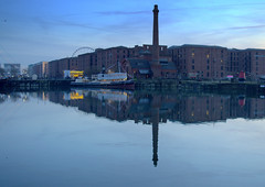Scenic Liverpool Docks (Tony Worrall) Tags: liverpool merseyside mersey scouse england northern uk update place location north visit area county attraction open stream tour country welovethenorth northwest unitedkingdom wet water wetreflection season beauty nice reflection chimney docks albertdocks dusk event evening architecture relic buildings sky skyline serene scenic scenery scene scenicliverpool
