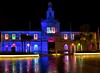 Newtownards Town Hall (John D McDonald) Tags: newtownardstownhall newtownards ards townhall town building architecture classical georgian classicalarchitecture classicalbuilding markethouse newtownardsmarkethouse artscentre ardsartscentre ardsarts townhallartscentre ferdinandostratford 18thc 1770 conwaysquare dark afterdark outside outdoor outdoors rain wet illuminated floodlit trees palmtrees palmtree statue blairmaynestatue blairmayne countydown codown northdown ardsandnorthdown ardsandnorthdownborough ardsandnorthdownboroughcouncil ardsborough ardsboroughcouncil aand northernireland ni ulster geotagged reflection reflections colour colours colourful multicoloured red green orange blue pink adventcalendar