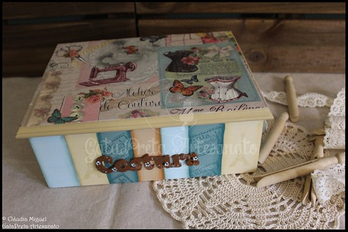 """Caixa de costura """"Paris Atelier de Couture"""""""