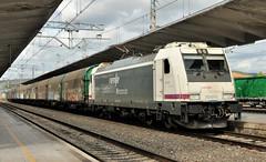 MONFORTE DE LEMOS (Andreu Anguera) Tags: tren mercaderias máquinaeléctrica 253011 monfortedelemos galiza galicia siderurgico vigo andreuanguera