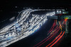 eastbound 580 evening rush hour (pbo31) Tags: oakland california nikon d810 color night eastbay alamedacounty boury pbo31 january 2017 winter bayarea lightstream motion traffic roadway 580 ramp exit highway red rushhour over motionblur overpass black dark rain wet storm mosswood headlights