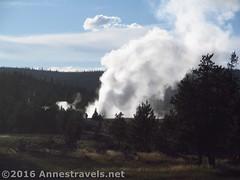 Daisy Geyser Eruption (Annes Travels) Tags: yellowstone wyoming uppergeyserbasin geysers geothermal