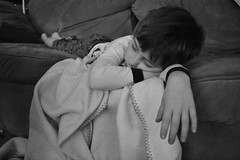 Sleepyhead (triciaamore) Tags: blackandwhite couch kid child sleepyhead sleeping emmett monochromatic monochrome 365project