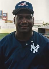 Tim Raines headshot No. 2 (NJ Baseball) Tags: 2000 timraines somersetpatriots atlanticleague independentleague newjersey bridgewater somersetcounty halloffamer