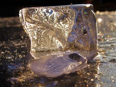 Ice cube (sodorasodi) Tags: ice winter water freeze cold icecube light transparent abstract shiny
