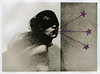 rust and stardust ({anna malina}) Tags: mixedmedia selfportrait art stars lithprint 35mm violet 2012 threads analog moerschse5