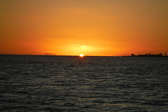 Barbuda Sunset with Nevis to the Left (hedonism1) Tags: hedonism bobmackie lauriemackie outboundyachts