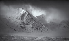 Rannoch (Scott Robertson (Roksoff)) Tags: moody atmosphere white storm cold lochanachlaise lochanstainge blackmount lochba rannochmoor glencoe scottishhighlands scotland meallabhuiridh criese buachailleetivemor winter snow ice frozen water mountains blackandwhite mono outdoors landscape nikond800 nikond810 gitzo 1635mmf4 70200mmf28 leefilters