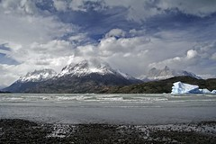 Wilderness (Joost10000) Tags: lagogrey chile patagonia glacier outdoor mountain landscape landschaft sky cloud lake lago glacierlake grey wild wilderness southamerica torresdelpaine nationalpark beauty ice canon eos canoneos5d canoneos travel greaterphotographers greatestphotographers