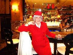 Lounging In The Lobby Lounge (Laurette Victoria) Tags: bar woman lady suit hat laurette milwaukee pfisterhotel