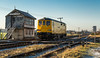 Network Rail Class 73/9 no 73951 pauses at Thoresby Colliery Signalbox on 29-12-2016 with a late running Derby to Derby Route Learner (kevaruka) Tags: thoresby thoresbycolliery thephotographyblog 73951 networkrail class739 yell yellow flickr frontpage kevinfrost winter 29122016 december decembersun sun sunshine sunnyday colour colours edwinstowe edwinstowestation nottinghamshire clipstone locomotive trains train transport britishrail ed signalbox canon canoneos5dmk3 canon5dmk3 canonef24105f4l canonef100400f4556l 5d3 5diii 5d 5dmk3 blue green cold telephototrains telephoto