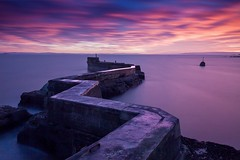 St. Monans' Zig Zag Breakwater (Daniel Giza) Tags: st monans zig zag breakwater fife water seascape sunset scotland outdoor big stopper lee filters canon 50d