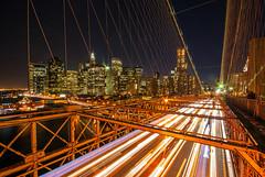 Brooklyn Bridge lights (Ben_Cooper) Tags: brooklyn manhattan brooklynbridge bridge bridges manhattanskyliny newyork newyorkcity ny nyc streaks lights cars timeexposure longexposure newyorkatnight