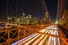 Brooklyn Bridge lights (Ben_Cooper) Tags: brooklyn manhattan brooklynbridge bridge bridges manhattanskyliny newyork newyorkcity ny nyc streaks lights cars timeexposure longexposure newyorkatnight