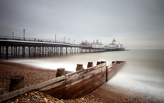 (ttrendell) Tags: eastbourne pier uk england east sussex canon 1635mm long exposure neutral density filter groyne sea beach water pebbles landscape clouds