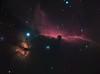 Horsehead + flame nebula (christoph.lankeit) Tags: space deep sky teleskop telescope 580mm apo quadruplet moravian ccd g28300 kamera camera phd skywatcher neq6 mount parallaktisch oag autoguiding pixinsight horsehead nebula alnitak flamenebula flame