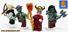 ORCS LEADER AND WARRIORS (baronsat) Tags: lego custom minifigs castle conan heroic fantasy sword sorcery elf skull knight