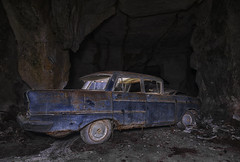 Paradise by the Dashboard Light (LeiV Photo) Tags: foto photo leivphoto ue urbex urban eu exploration exploring explore decay abandoned forgotten derelict deserted verval vergeten verlaten lost verloren oud old alt nikon d800 abandonedworld car auto voiture transport transportation vervoer grot groeve cave quarry höhle steinbruch