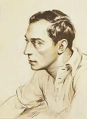 Buster Keaton (artist - Vincentini aka Ted Ireland) (KlaatuCarpenter) Tags: artwork portrait busterkeaton vincentini tedireland