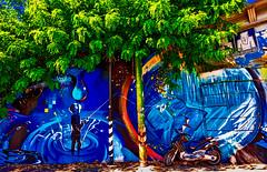 The fisherman (Marco Trovò) Tags: marcotrovò hdr canon5d milano italia italy city street strada naviglio waterway graffiti mural murale pescatore fisherman