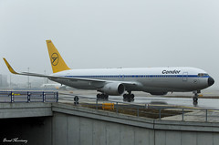 Condor (Retro Livery) 767-300(ER) D-ABUM (birrlad) Tags: frankfurt fra international airport germany aircraft aviation airplane airplanes airline airliner airlines airways taxi taxiway takeoff departing departure deice pad fog frost ice cloud weather boeing b767 b763 767 767300er 76731ber dabum condor retro scheme colour titles decals livery special fortdefrance de2268 martinique