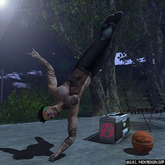 BREAK DANCE AND BASKETBALL AT NIGHT (williamswolf) Tags: speakeasy 7deadlyskins ks giomen