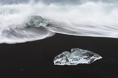 The wave of change (George Pancescu) Tags: nikon d810 1635mm iceland jokulsarlon diamondbeach vatnajökullnationalpark beach blacksand ice waves ocean arcticocean water iceberg outdoor