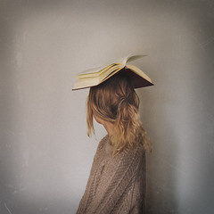 winter semester 16/17 (foteinizaglara) Tags: book books head up pages semester university uoi study exams knowledge blondie girl portrait selfportrait ©foteinizaglara